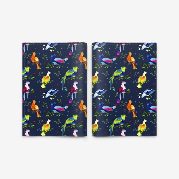 Обложка для паспорта «Фантастические птицы»