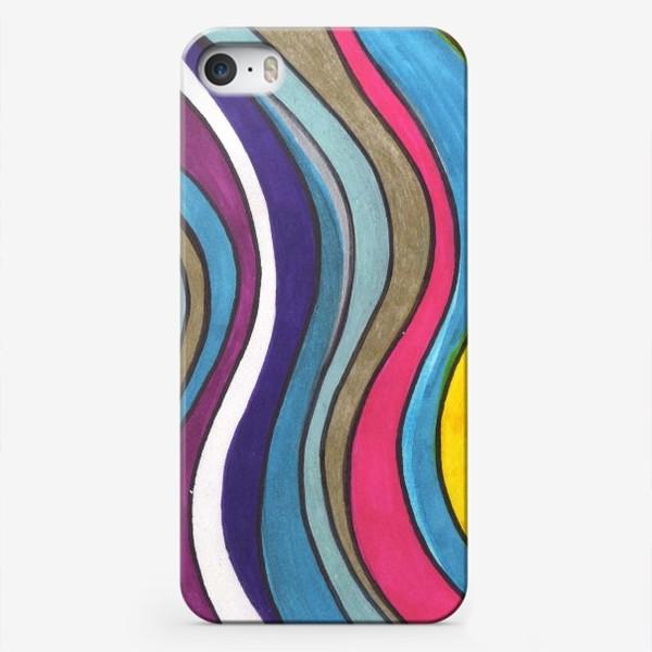 Чехол iPhone «Разноцветные волны»