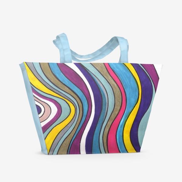 Пляжная сумка «Разноцветные волны»