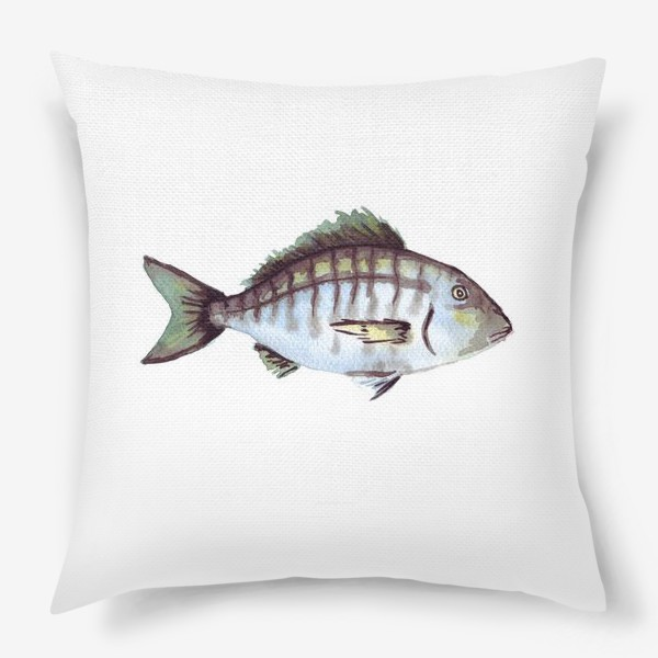 Подушка «Рыба. Зубан большеглазый.»