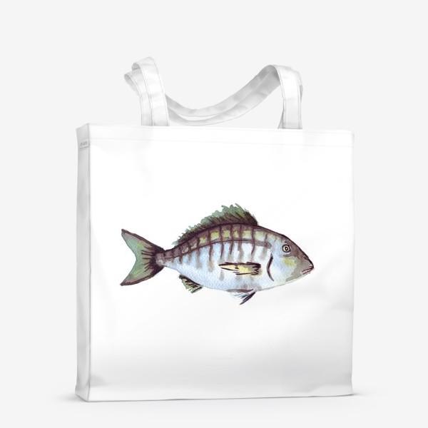 Сумка-шоппер «Рыба. Зубан большеглазый.»