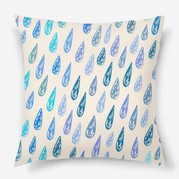 Подушка «Дождь паттерн»