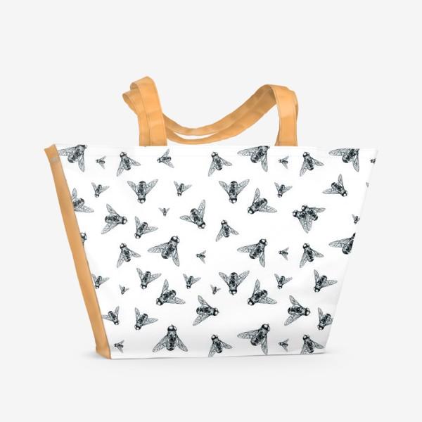 Пляжная сумка «муха цокотуха »