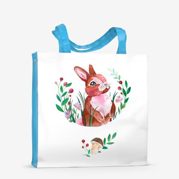 Сумка-шоппер «Зайчик в траве»
