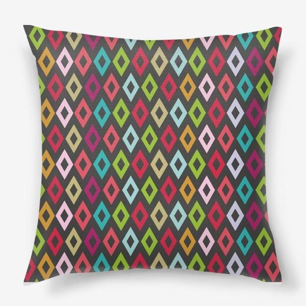 Подушка «Цветные ромбики»