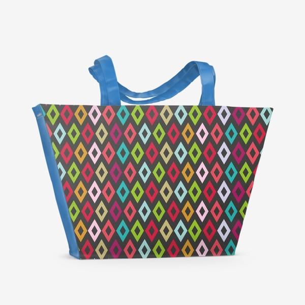 Пляжная сумка «Цветные ромбики»