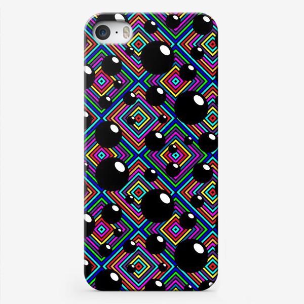 Чехол iPhone «Шары углы полоски ромбы.»