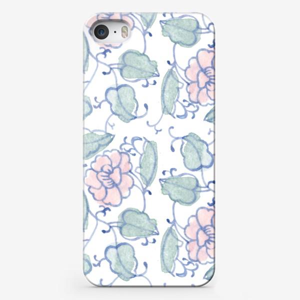 Чехол iPhone «Цветочный винтажный орнамент»