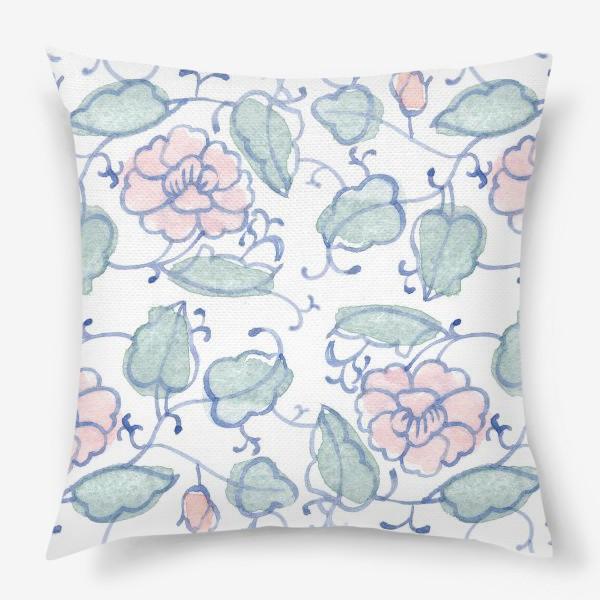 Подушка «Цветочный винтажный орнамент»