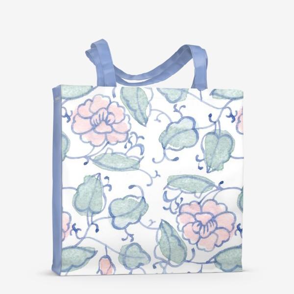 Сумка-шоппер «Цветочный винтажный орнамент»