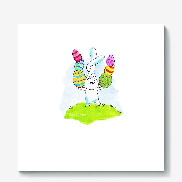 Холст «Пасхальный заяц»
