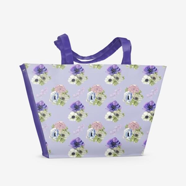 Пляжная сумка «Цветочный узор »