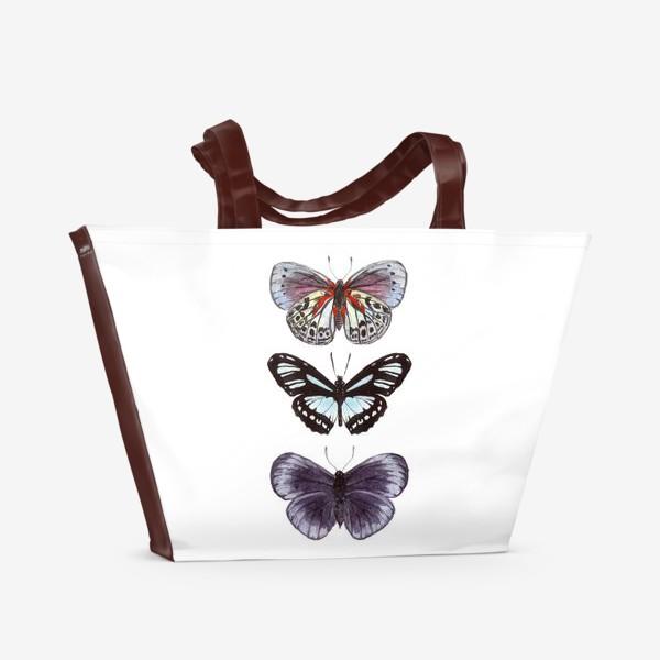Пляжная сумка «бабочки. butterfly»