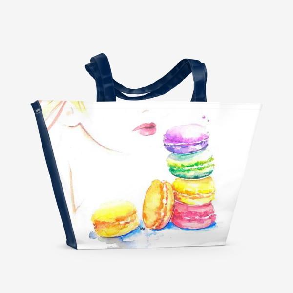 Пляжная сумка «Макаронс»