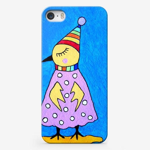 Чехол iPhone «Птичка в шапочке»