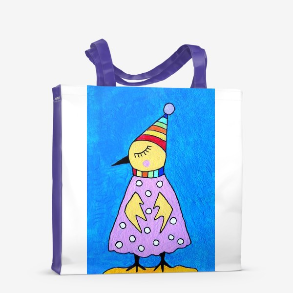 Сумка-шоппер «Птичка в шапочке»