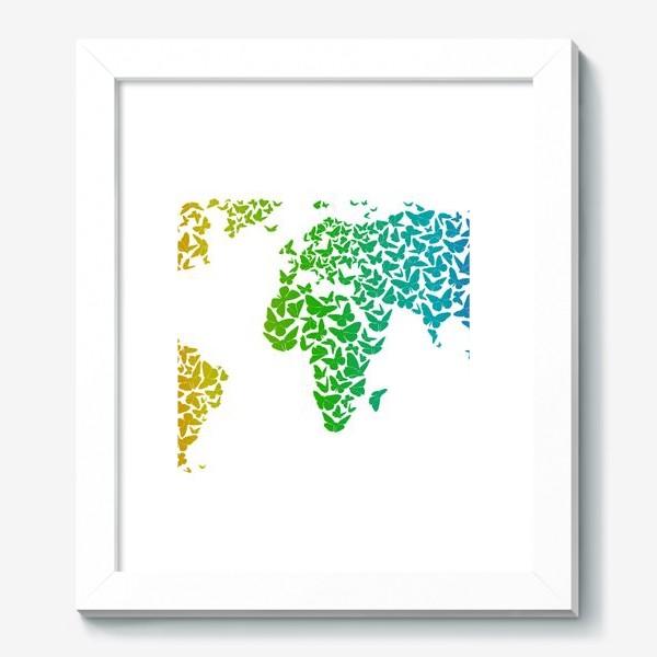Картина «Карта мира бабочек»
