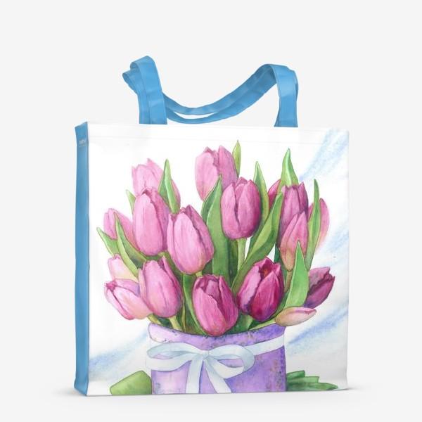Сумка-шоппер «Розовые тюльпаны»