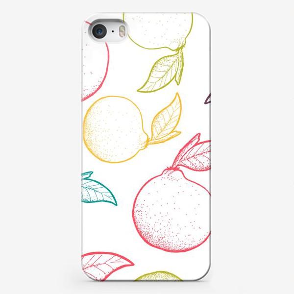 Чехол iPhone «Апельсины паттерн»