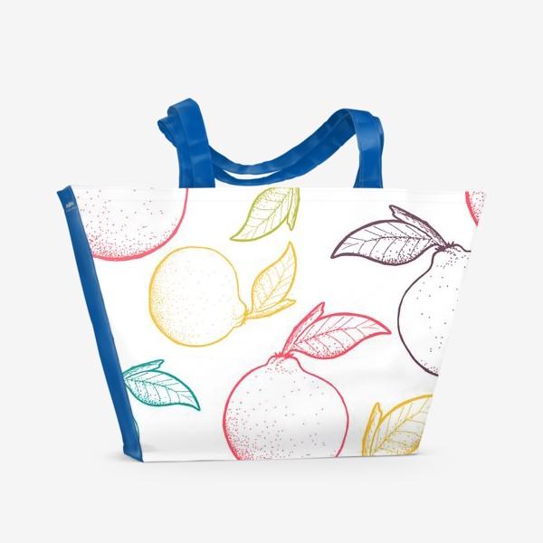 Пляжная сумка «Апельсины паттерн»