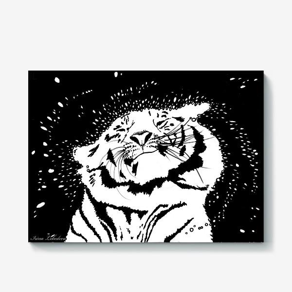 Холст «Белый тигр»