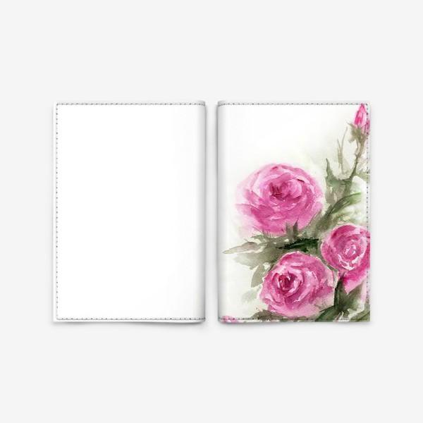 Обложка для паспорта «Роза акварель»