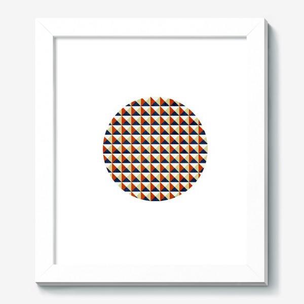 Картина «Квадрат в круге тёплая геометрия»