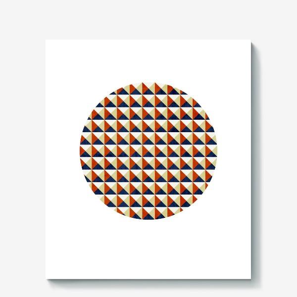 Холст «Квадрат в круге тёплая геометрия»