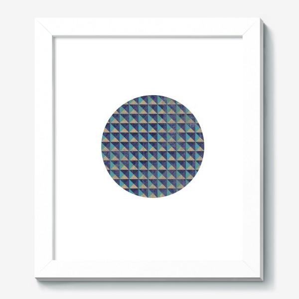 Картина «Квадрат в круге холодная геометрия»