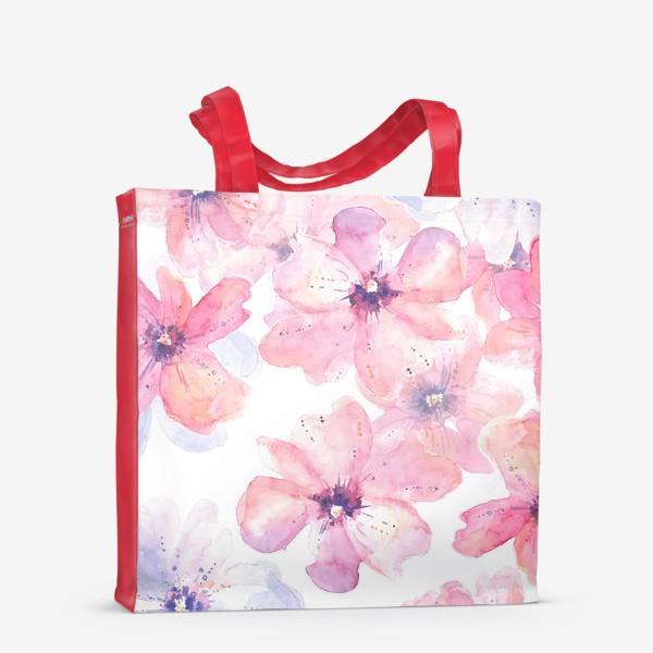 Сумка-шоппер «Цветы весна»