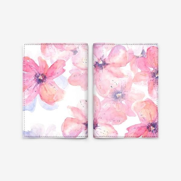 Обложка для паспорта «Цветы весна»