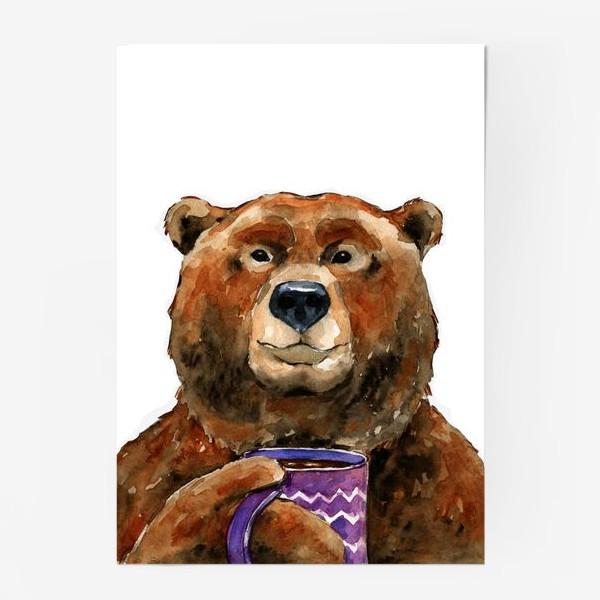 Постер «Медведь пьет чай»