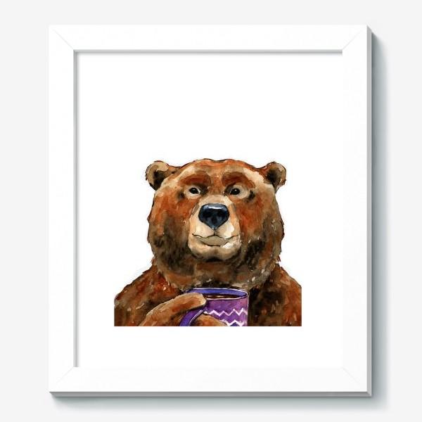 Картина «Медведь пьет чай»