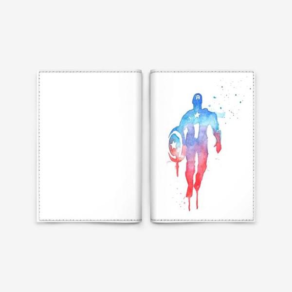 Обложка для паспорта «Капитан Америка»