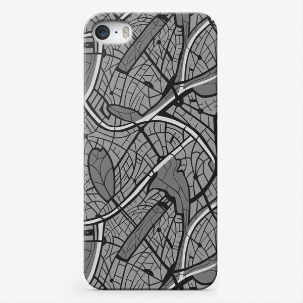 Чехол iPhone «Мотив карты города»