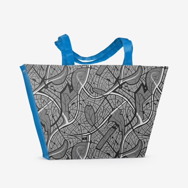 Пляжная сумка «Мотив карты города»