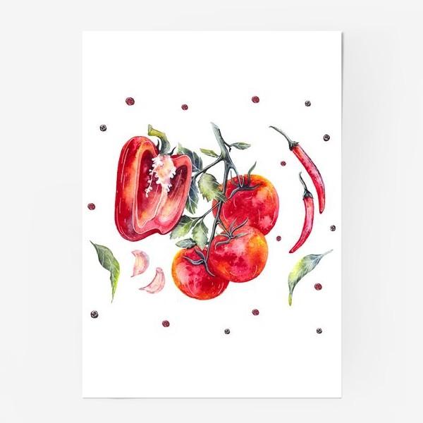 Постер «Томат и перец»