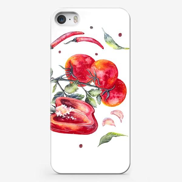 Чехол iPhone «Томат и перец»