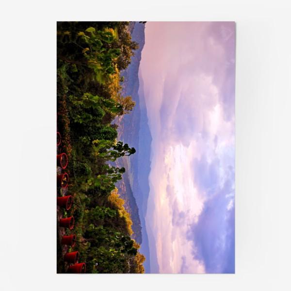 Постер «Фиолетовое утро в горах»