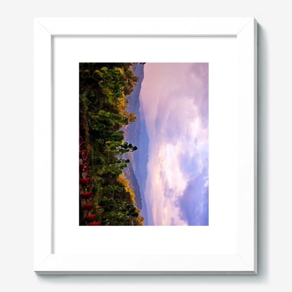 Картина «Фиолетовое утро в горах»