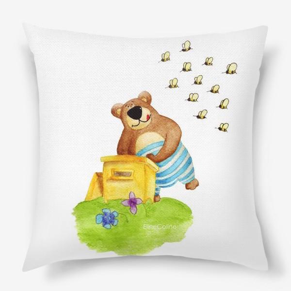 Подушка «Медведь и мёд»