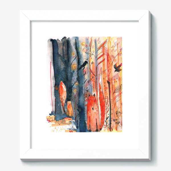 Картина «Лисы »