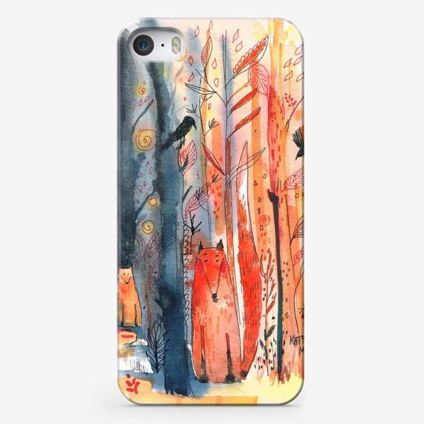 Чехол iPhone «Лисы »