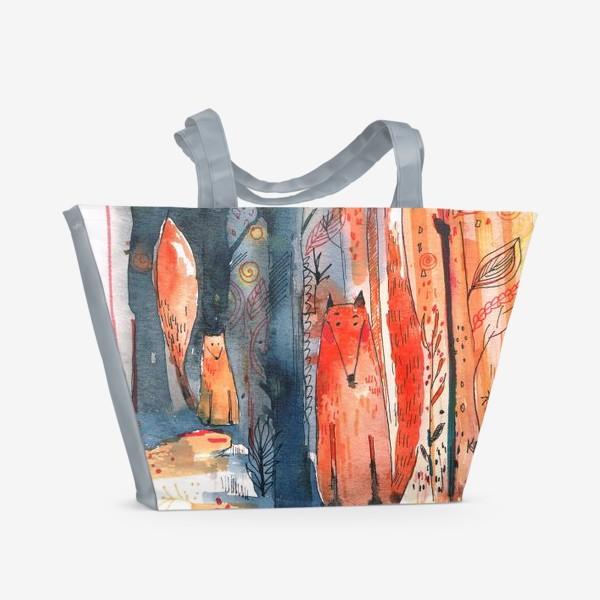 Пляжная сумка «Лисы »