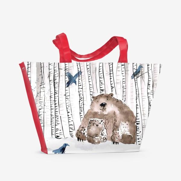 Пляжная сумка «Скандинавские медведи»