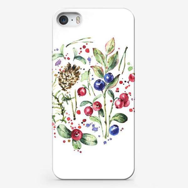 Чехол iPhone «Дары леса. Акварель»