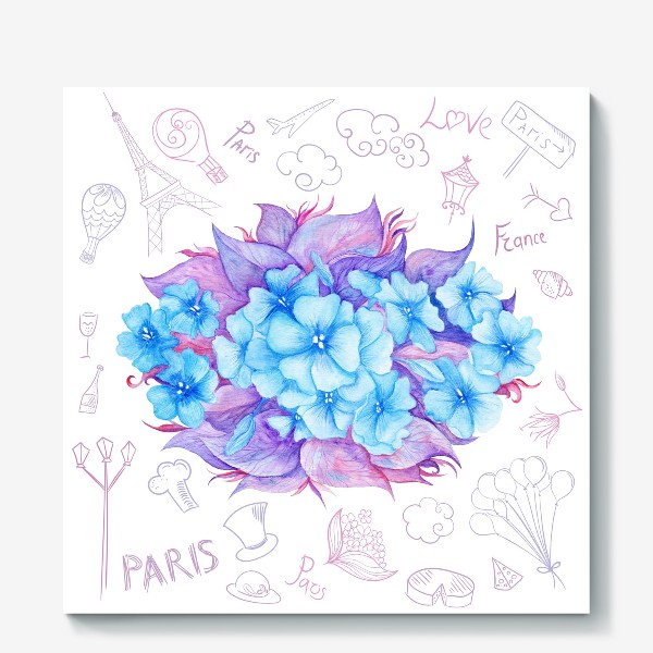 Холст «Весна в Париже»