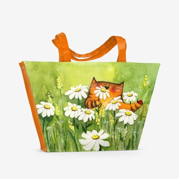 Пляжная сумка «Ромашковое лето»