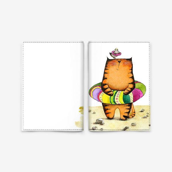 Обложка для паспорта «На пляже»