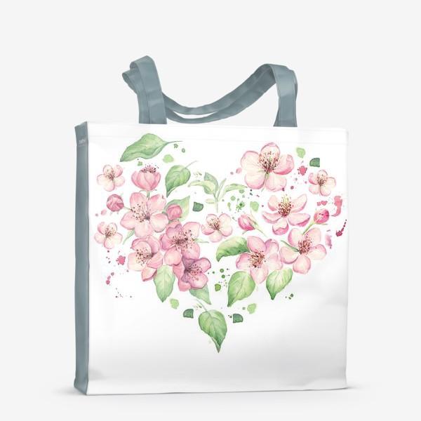 Сумка-шоппер «Сердце. Весенний цвет»